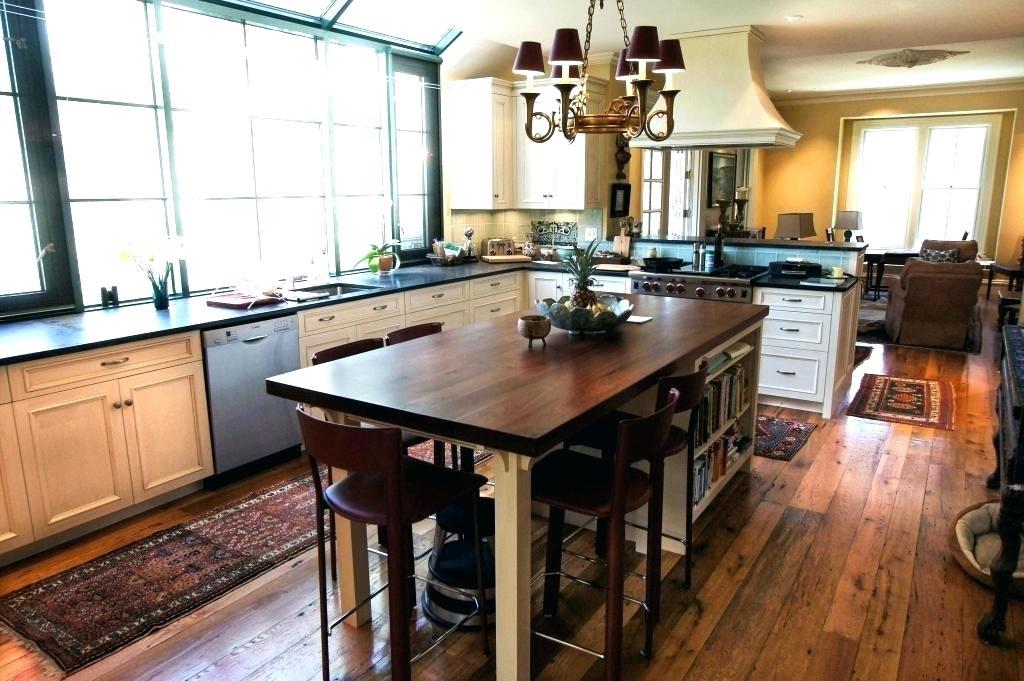 میز ناهار خوری چوبی آشپزخانه جزیره صندلی اپن چوبی