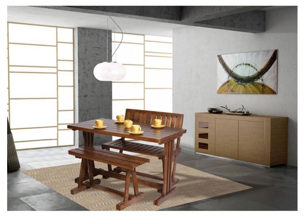 میز ناهار خوری چوبی آشپزخانه نیمکت دار تاشو