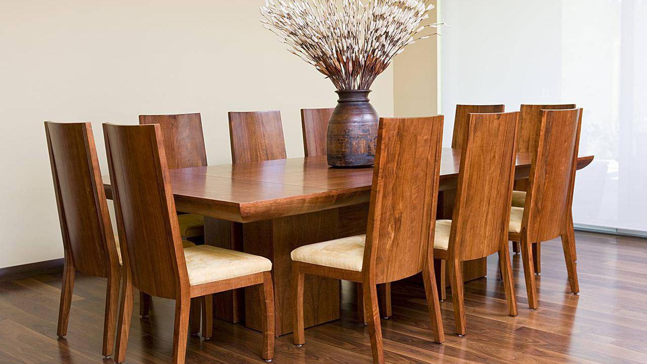 میز ناهار خوری چوبی آشپزخانه هشت نفره
