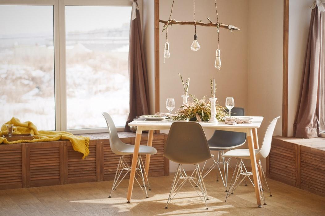 میز ناهار خوری چوبی آشپزخانه پلاسیتکی فلزی استیل
