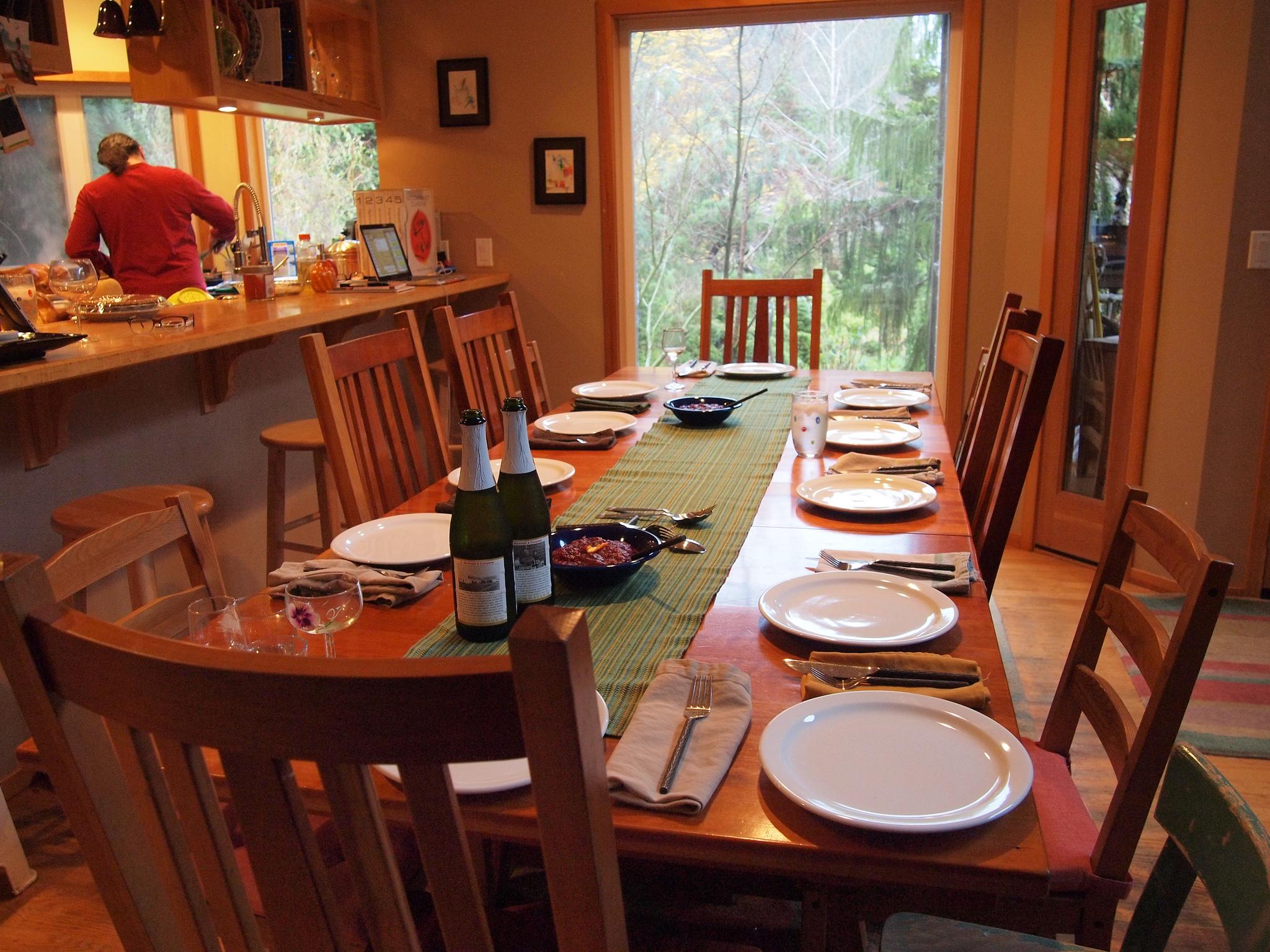 میز ناهار خوری چوبی صندلی ام دی اف تزیین و چیدمان میز ناهار خوری