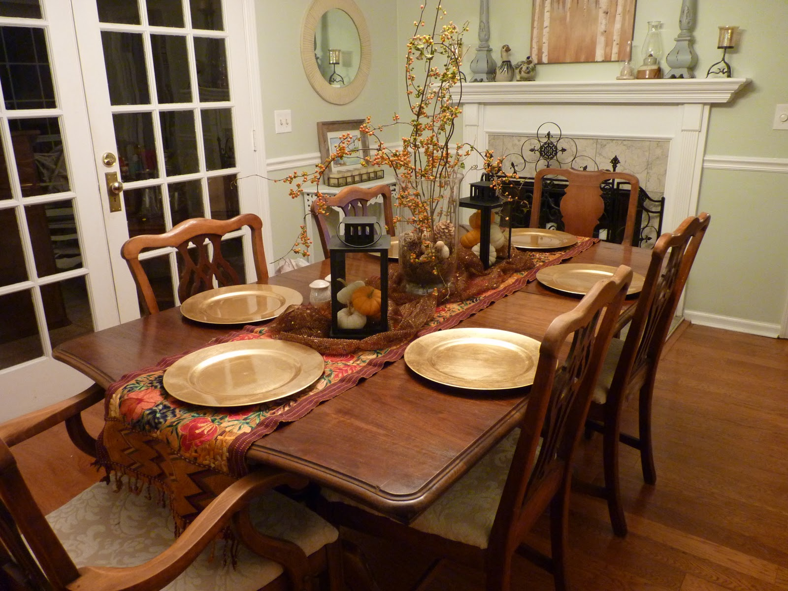 میز ناهار خوری چوبی ام دی اف شش نفره