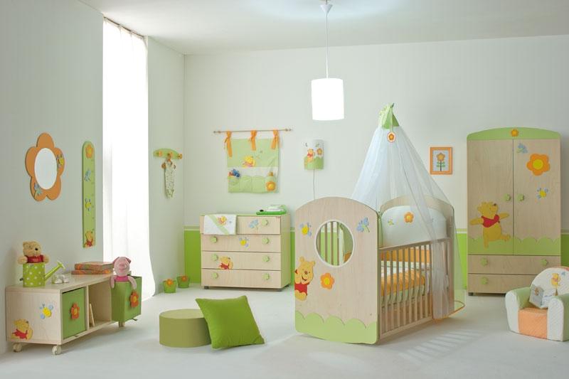 سرویس خواب کودک نوزاد سبز نارنجی دخترانه پسرانه