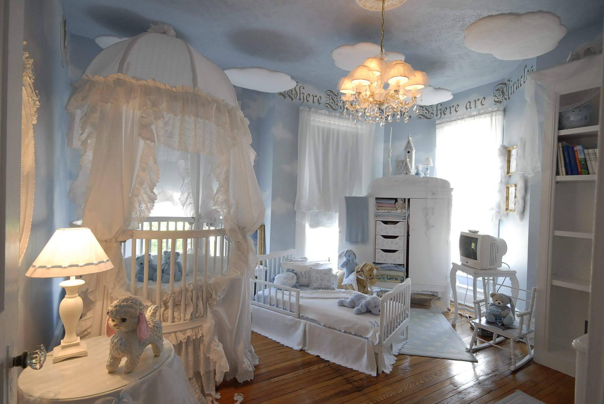 سرویس خواب نوزاد نوجوان سفید آبی دخترانه پسرانه
