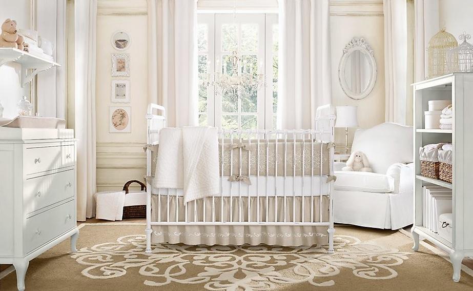 سرویس خواب کودک نوزاد کرم سفید  دخترانه پسرانه
