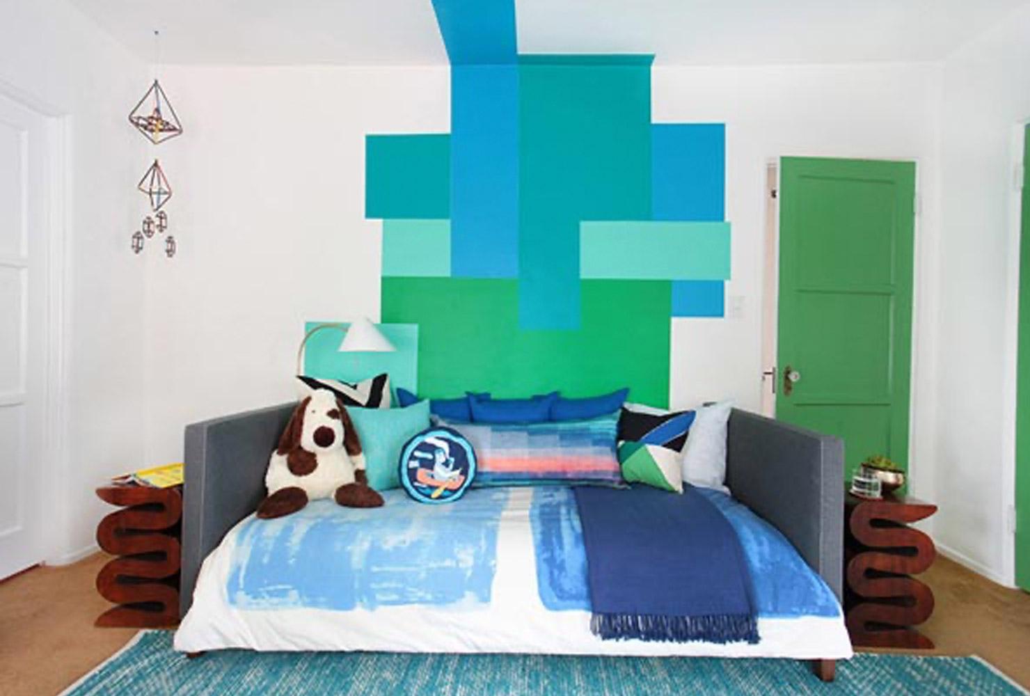 سرویس خواب کودک نوجوان سبز آبی سفید