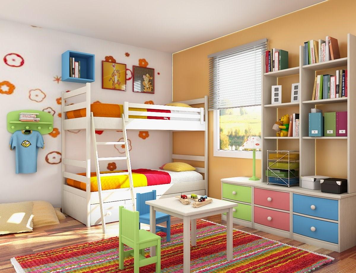 سرویس خواب کودک نوجوان رنگی دکوراسیون اتاق خواب