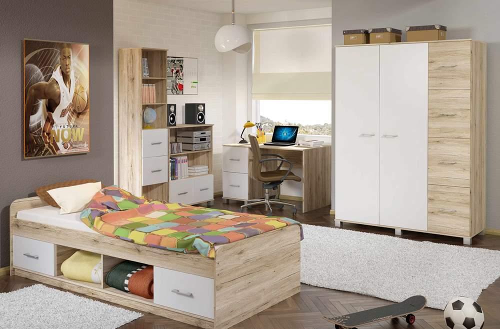 سرویس خواب نوجوان سفید چوبی دخترانه پسرانه دکوراسیون اتاق خواب