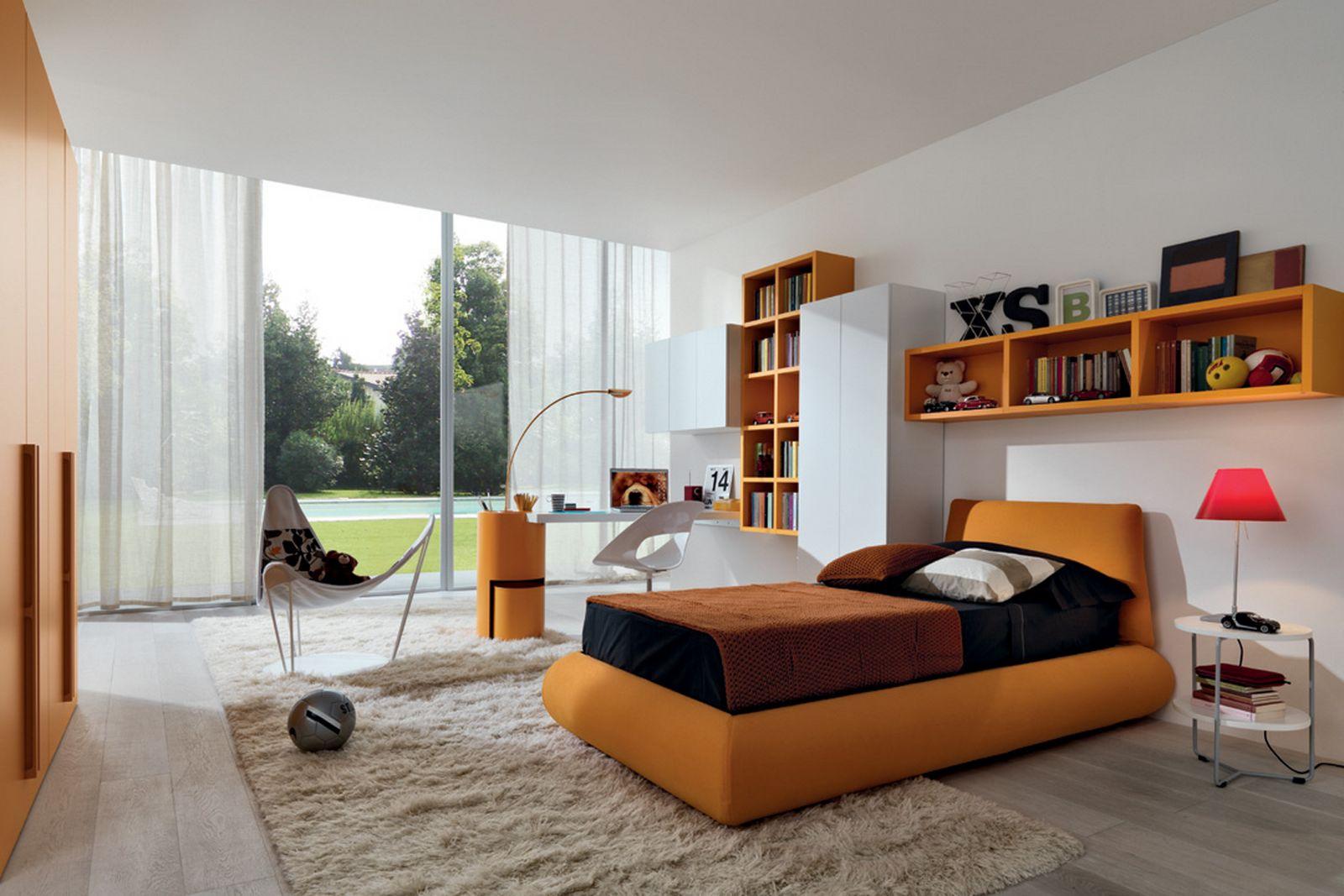 شلف و کتابخانه برای بالای تخت خواب