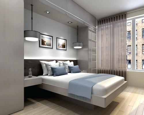 نورپردازی و تزیین بالای تخت خواب