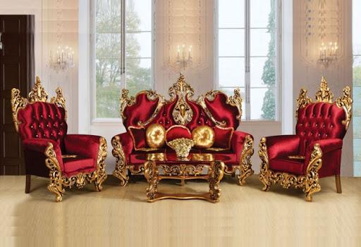 مبل استیل و سلطنتی قرمز