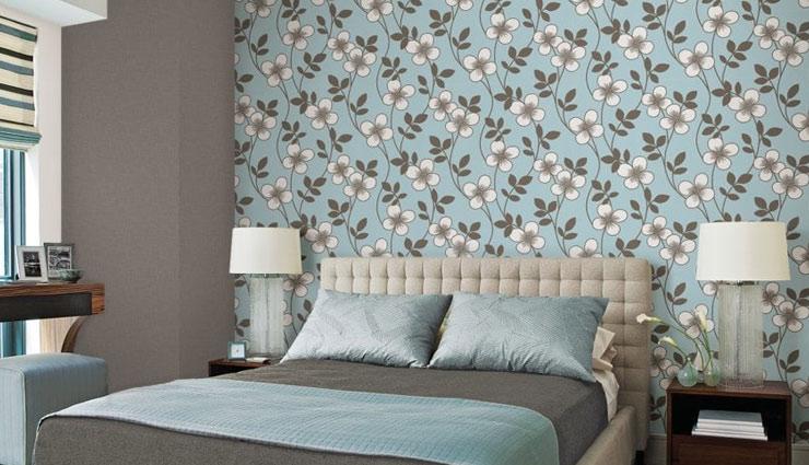 کاغذ دیواری اتاق خواب گلدار