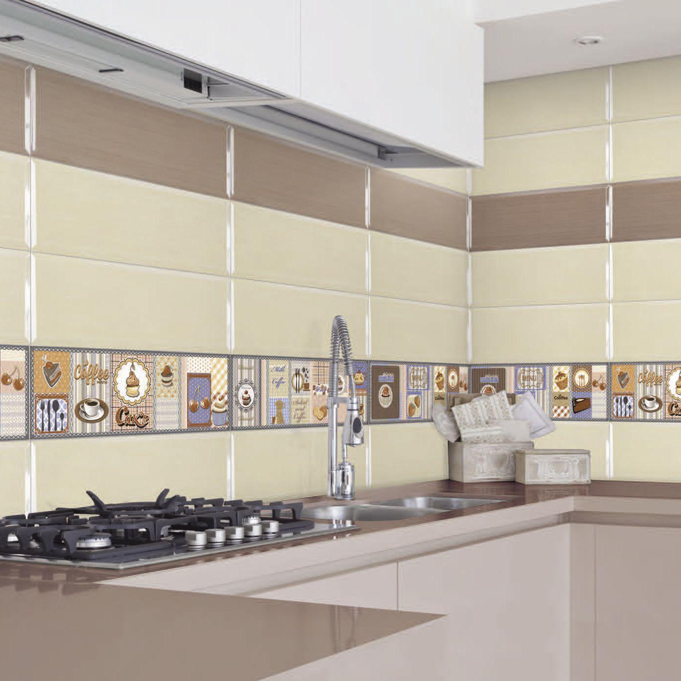 سرامیک آشپزخانه با طرح های افقی