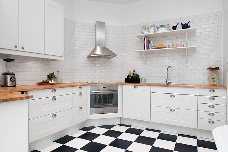 سرامیک آشپزخانه شطرنجی
