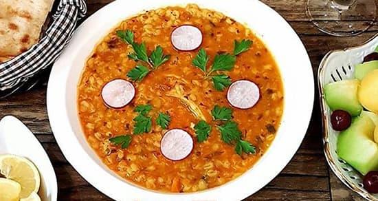 تزیین سوپ جو