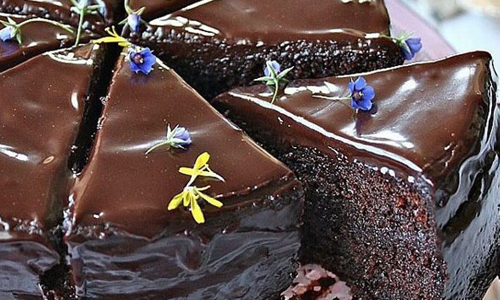 کیک خیس کاکائویی
