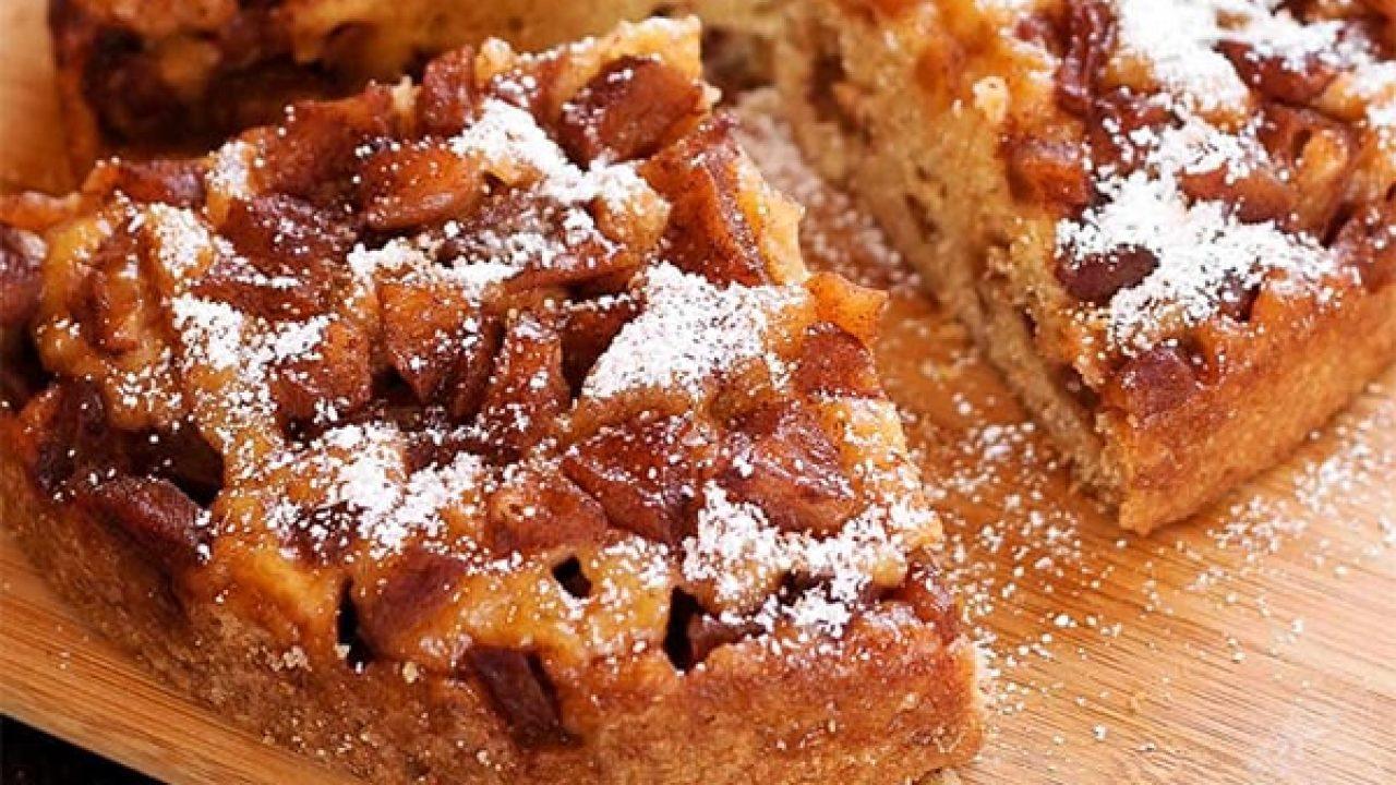 دستور پخت کیک سیب و دارچین
