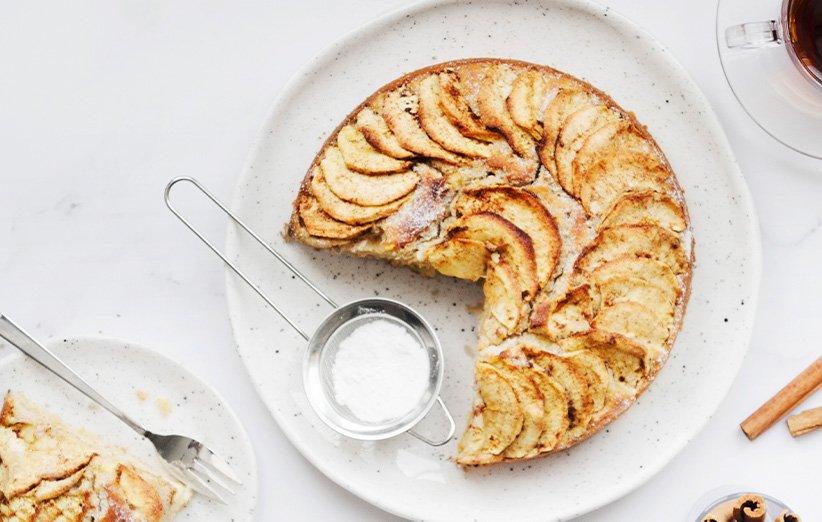 مواد لازم برای تهیه کیک سیب و دارچین خانگی