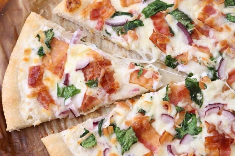 مواد لازم برای تهیه پیتزا آلفردو