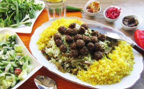 دستور پخت کلم پلو شیرازی