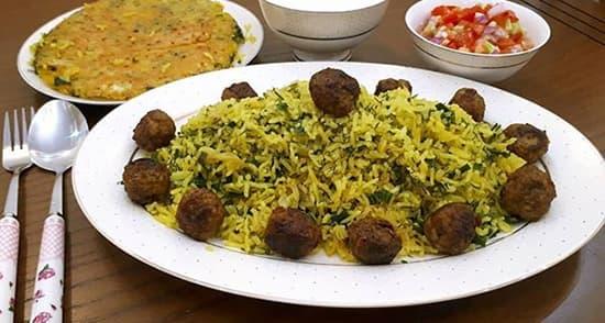 مواد لازم برای تهیه کلم پلو شیرازی