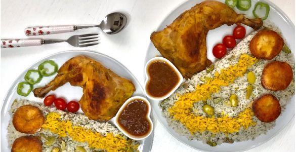 دستور پخت باقالی پلو با مرغ