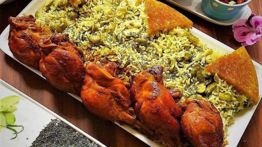 مواد لازم برای تهیه باقالی پلو با مرغ