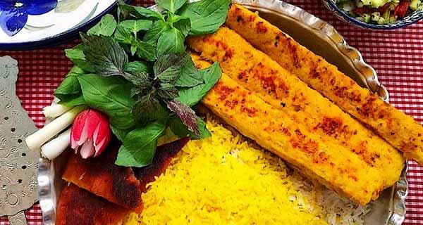 کباب تابه ای با مرغ