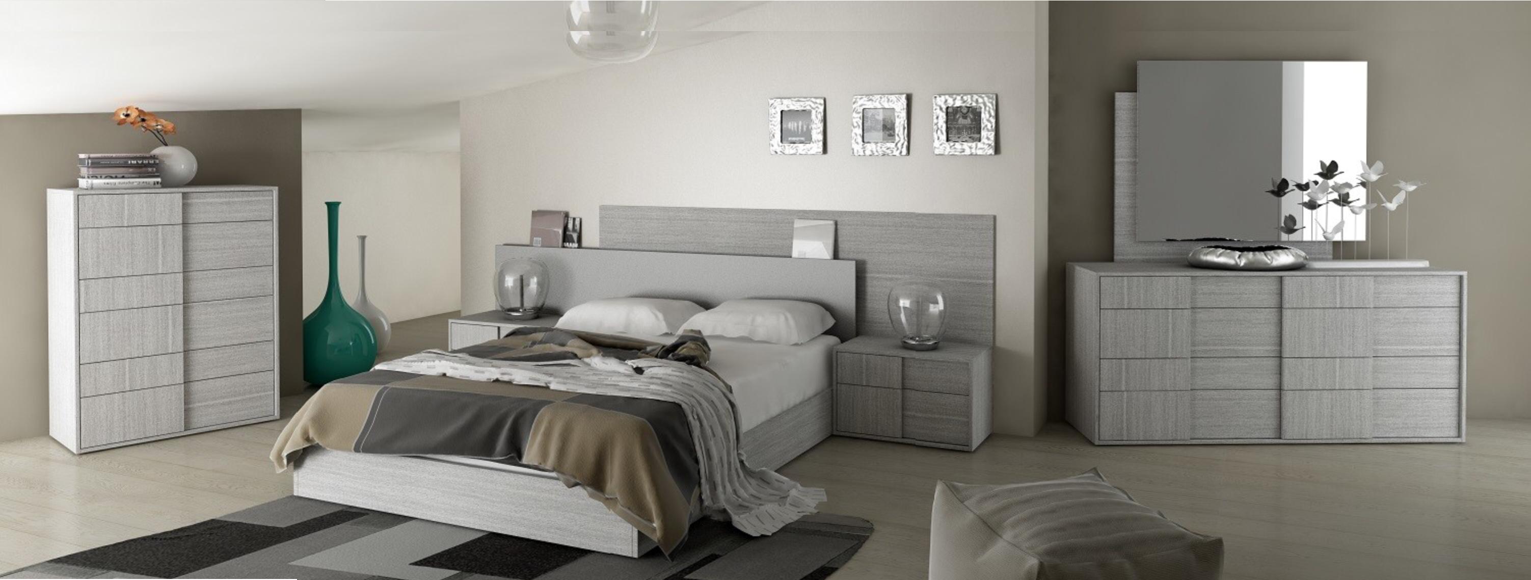 دکوراسیون اتاق خواب با رنگ طوسی خنثی