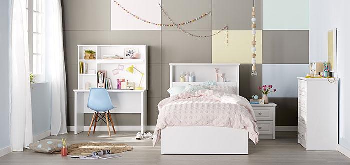 دکوراسیون اتاق خواب کودک با رنگ سفید
