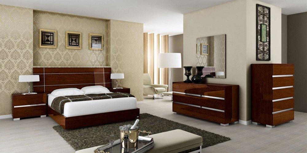 دکوراسیون اتاق خواب با سرویس چوبی
