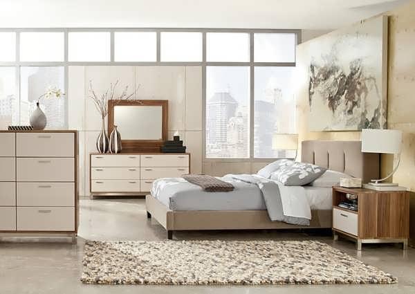 دکوراسیون اتاق خواب با تخت مدرن