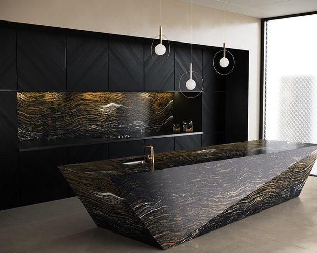 دکوراسیون آشپزخانه خاص با سنگ