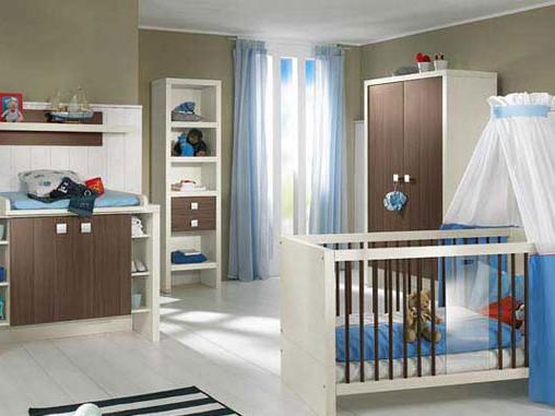 دکوراسیون اتاق خواب کودک با رنگ آّبی