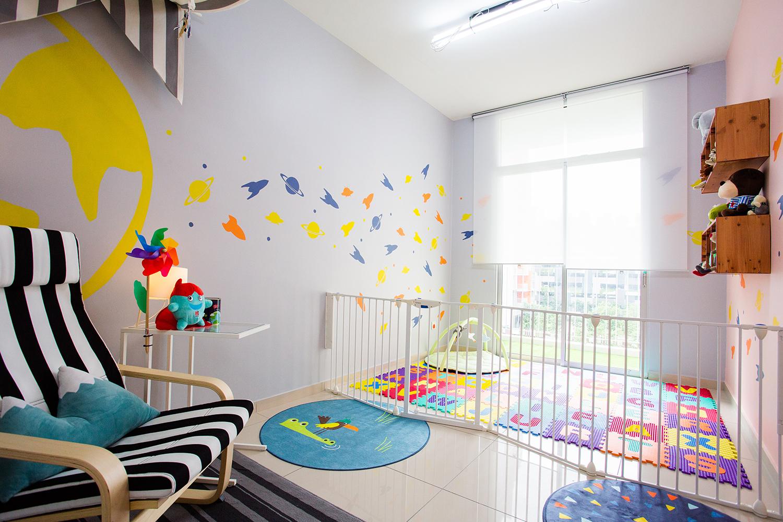 دکوراسیون اتاق کودک رنگی رنگی