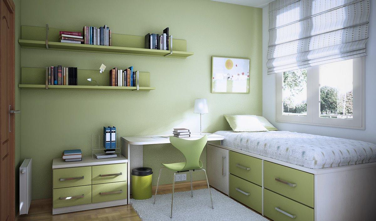 دکوراسیون اتاق کودک و نوجوان با رنگ سبز