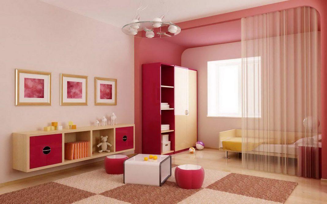 دکوراسیون اتاق کودک صورتی
