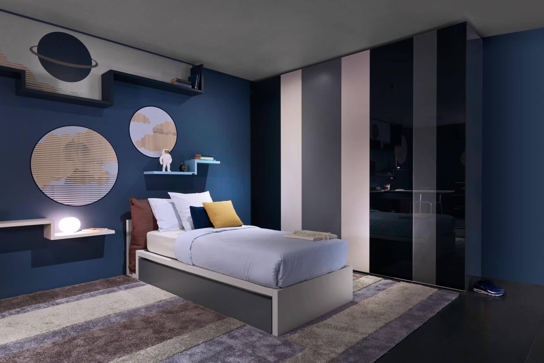 دکوراسیون اتاق پسرانه با رنگ آبی