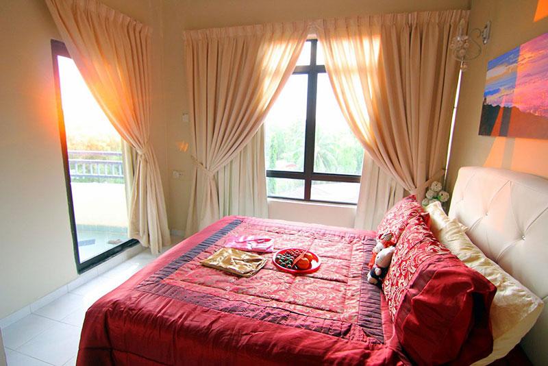 پرده اتاق خواب عروس ساده