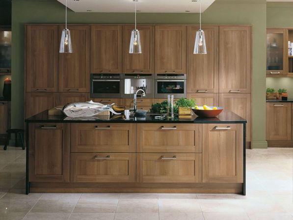 کابینت و جزیره آشپزخانه چوبی