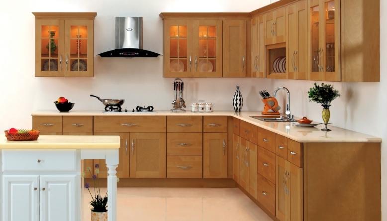 کابینت آشپزخانه چوبی ساده و شیک