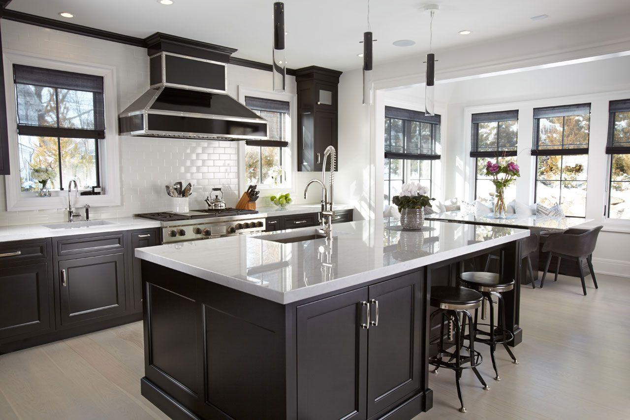 کابینت آشپزخانه سفید و مشکی