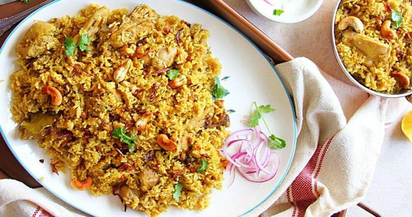 پلو مرغ هندی